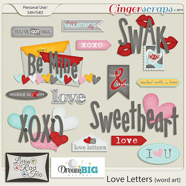 Love Letters Word Art