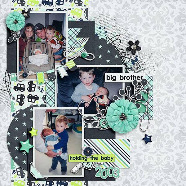 Layout by Jennifer (Kit: Baby Boy by Laura Banasiak)
