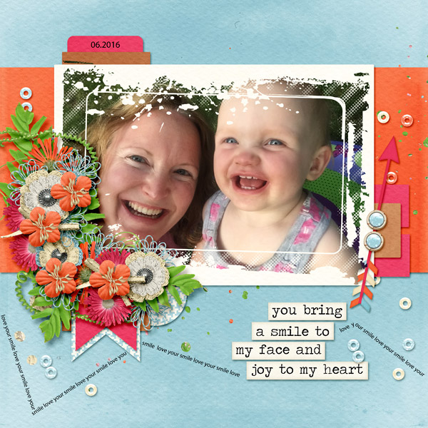 Layout by Jenny (Kit: Discover Your Smile by Seatrout Scraps, Template: Make It Big (retired) by Dagi's Temp-tations.)