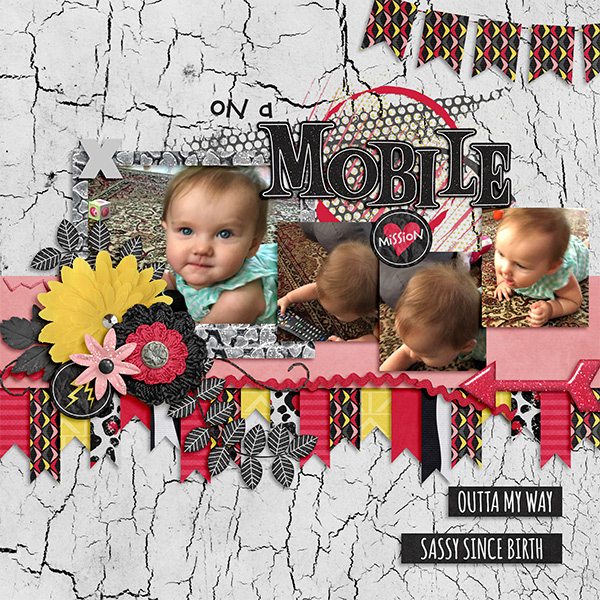 "Layout by Michi (using ""Along the Border"" template by Little Rad Trio)"