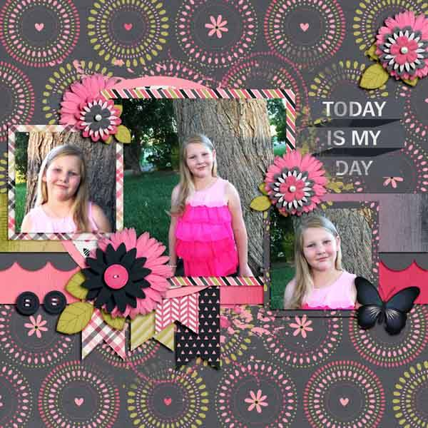 "Layout by Shelly (Kit: ""She Is"" by Keley Designs)"