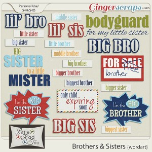 Brothers & Sisters word art