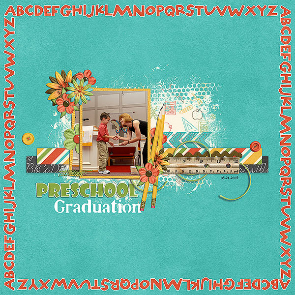 Layout by Judy using Back 2 School