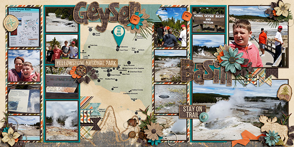 A double-page layout by me (template: The Good Life by Dear Friends Designs)